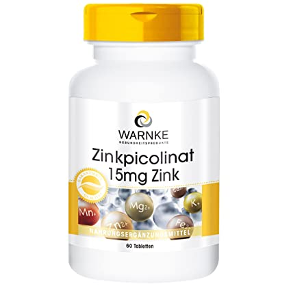 Picolinato de Zinc – Productos para la saludo Warnke – 15mg – 60 comprimidos – sustancia