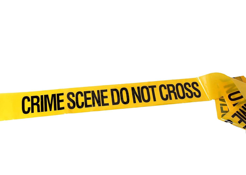 CrimeKit Cinta 30 Metros Crime Scene Do Not Cross (100 pies). Novedad Cinta Barrera CRM-2-6-POL