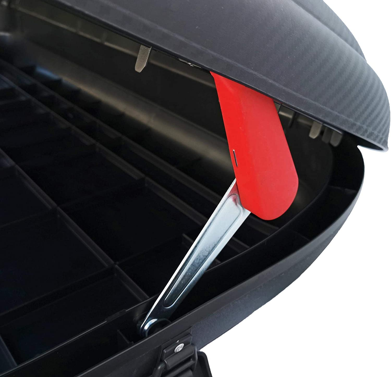 Dachtr/äger Menabo Tema kompatibel mit Mercedes B-Klasse W246 Schr/ägheck 5 T/ürer Dachbox VDPMAA320 abschlie/ßbar schwarz 320 Ltr ab 2012 Stahl
