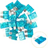 KUFUNG 15 Amp Car Fuses, Standard Automotive Fuses Assortment, Auto Blade Fuse for Car, Truck, Boat, Marine, RV, SUV, Trike,