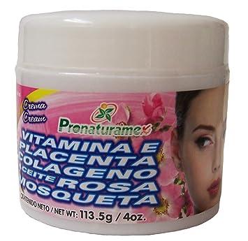 Crema con Vitamina E, Placenta, Colageno, Aceite Rosa Mosqueta by PRONATURAMEX