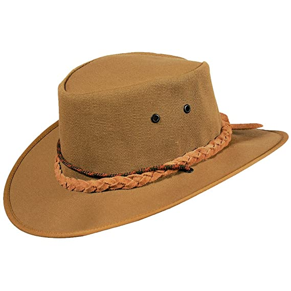 Hand Crafted Cowboy//Outback//Aussie S Leather Hat with unique Desert Camo design