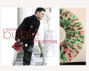Michael Buble Christmas Album.Michael Buble Christmas Music Album Exclusive Limited Edition Colored Red And Green Splatter Vinyl Lp