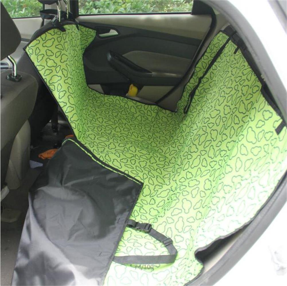 Green Gtopart Pet Seat Cover Backseat for Cars, Truck, SUV, Fmaily Van, Waterproof & Hammock Congreenible (Green)