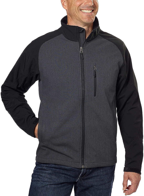 Kirkland Signature Men/'s 4 Way Stretch Soft Shell Jacket Weatherproof Red XXL