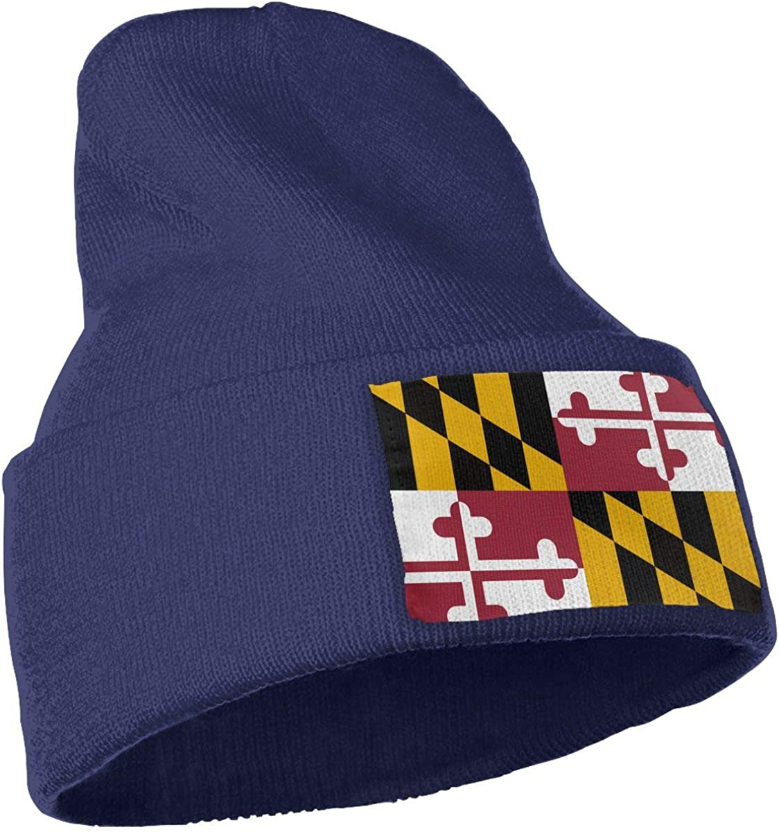 Flag of Maryland Men /& Women Winter Fashion Skull Cap