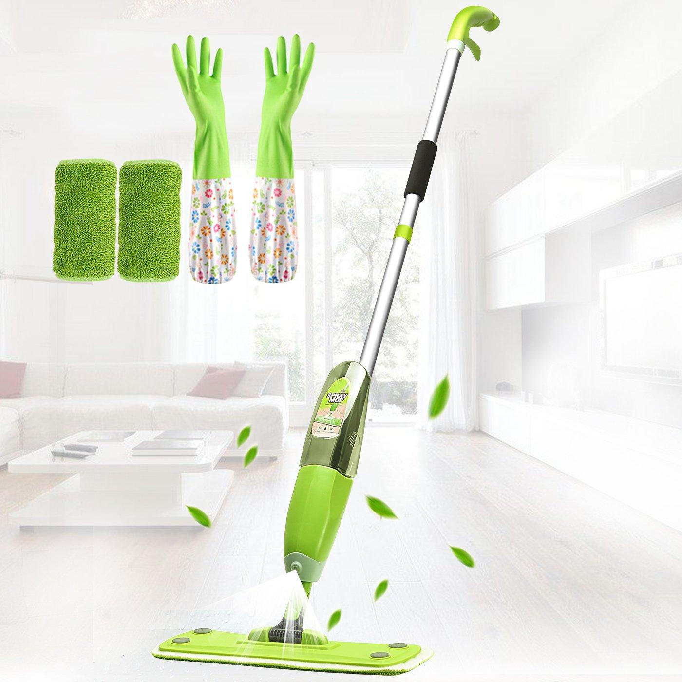 MENQANG Floor Mop,Clean Mop,Floor Spray Mop,Water mop,360 Degree Microfiber Spray Mop Gift (Clean Gloves and Mop Cloth)