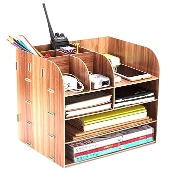 tenger Madera Cajas escritorio escritorio ordnungs Box Office mesa organizador, 32 × 25 × 27