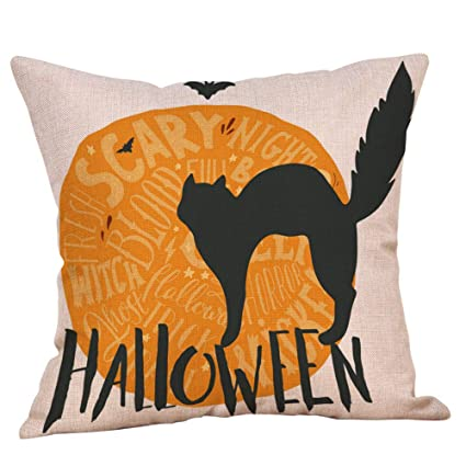 Amazon.com: iCJJL Halloween Pillow Cases Linen Sofa Pumpkin ...