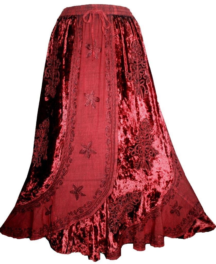 Agan Traders 552 Sk Dancing Gypsy Medieval Renaissance Vintage Skirt (L/XL, H Green) by Agan Traders (Image #5)