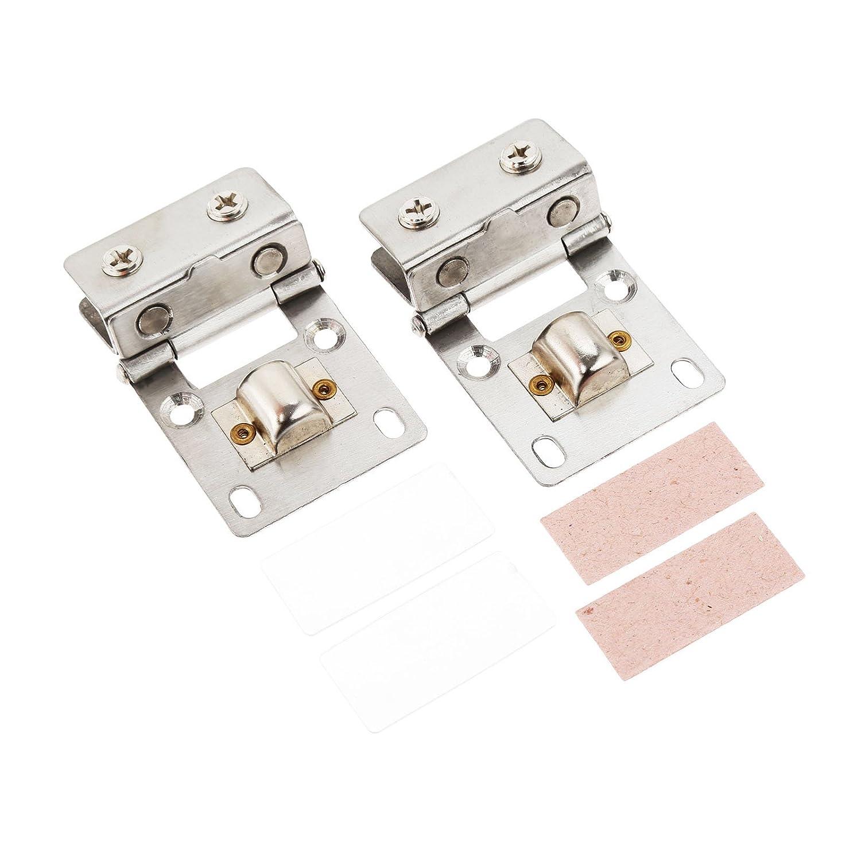 2pcs quadratf/örmiges Edelstahl-Scharnier f/ür Glast/ür Regal und Handl/äufe geeignet f/ür Glas von 5-8mm Dicke