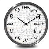 綿花世界 数学函数デザイン! 壁掛け時計 ウォールクロック 連続秒針