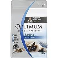 OPTIMUM Furball 1+ Years with Chicken Dry Cat Food 800g, 6 Pack
