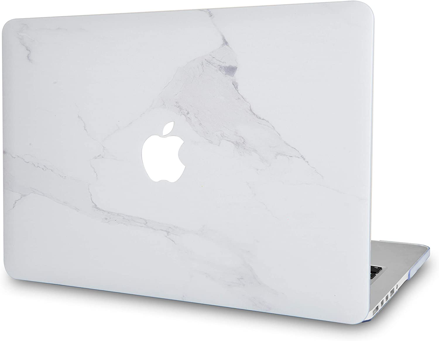 "LuvCase Laptop Case for MacBook Pro 13"" (2020 Release) with Touch Bar A2251/A2289 Rubberized Plastic Hard Shell Cover (Atlantic Marble)"