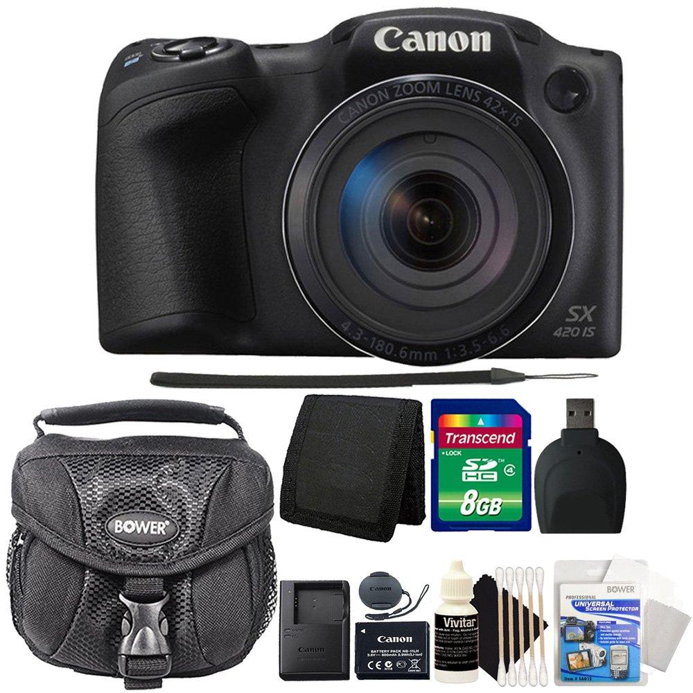 Canon PowerShot sx420 is 20.0 MP Wi - Fi内蔵/NFCデジタルカメラブラック+ 8 GB Professionalアクセサリキット   B0743LVPPC