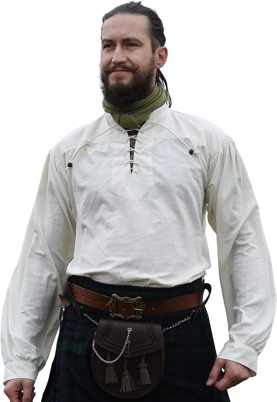 Battle-Merchant - Camisa Medieval para Hombre - Ideal para Larp Vikingo: Amazon.es: Ropa y accesorios