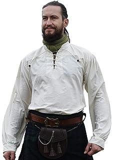 Hemad Pantalones Medievales Landsknecht para Hombres - Longitud de la Pantorrilla - Algodón Puro - S-XXXL Negro-Verte, Negro-Marrón, Negro-Rojo: Amazon.es: Ropa y accesorios