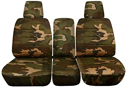 Cool 2004 2008 Ford F 150 Camo Truck Seat Covers Front 40 20 40 Split Bench With Center Console Armrest W Wo Integrated Seat Belts Brown Green Dailytribune Chair Design For Home Dailytribuneorg