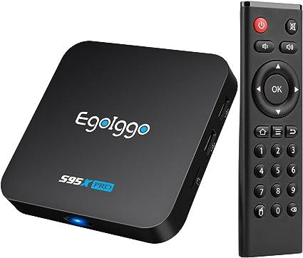 EgoIggo S95X Pro Android 6.0 Box Amlogic S905X Quad Core Arm Cortex-A53,2 GB + 16 GB WiFi Android Box: Amazon.es: Electrónica