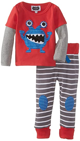 0933d3c649aa Amazon.com  Mud Pie Boys  Baby Newborn Monster Pant Set