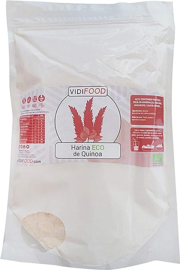 Harina de Quinoa Ecológica - 1kg - Quinoa Orgánica molida sin gluten y alta en proteínas - Deliciosa y nutritiva