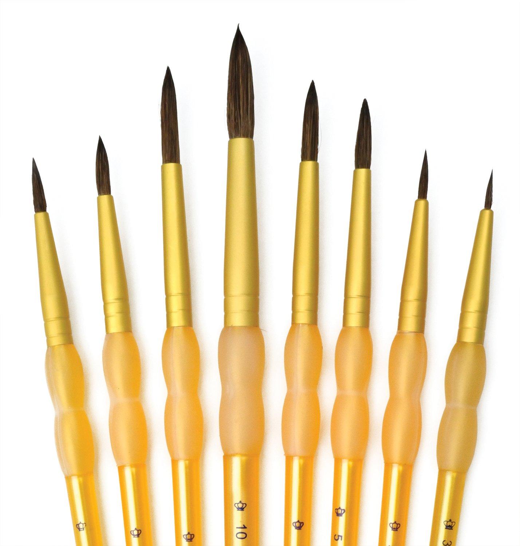 Royal and Langnickel Crafter's Choice Round Camel Hair Brush Set (Pack of 8) Royal Brush Mfg RCC 412