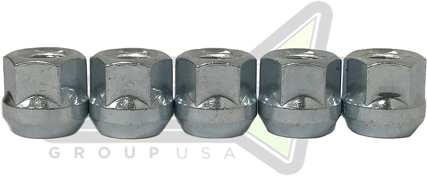 3//4 or 19mm Hex SET Group USA 10 Pc Open End Lug Nuts Bulge Acorn 7//16 Wheel Lug Nuts 7//16x20 Works with Chevy Pontiac Gmc Buick