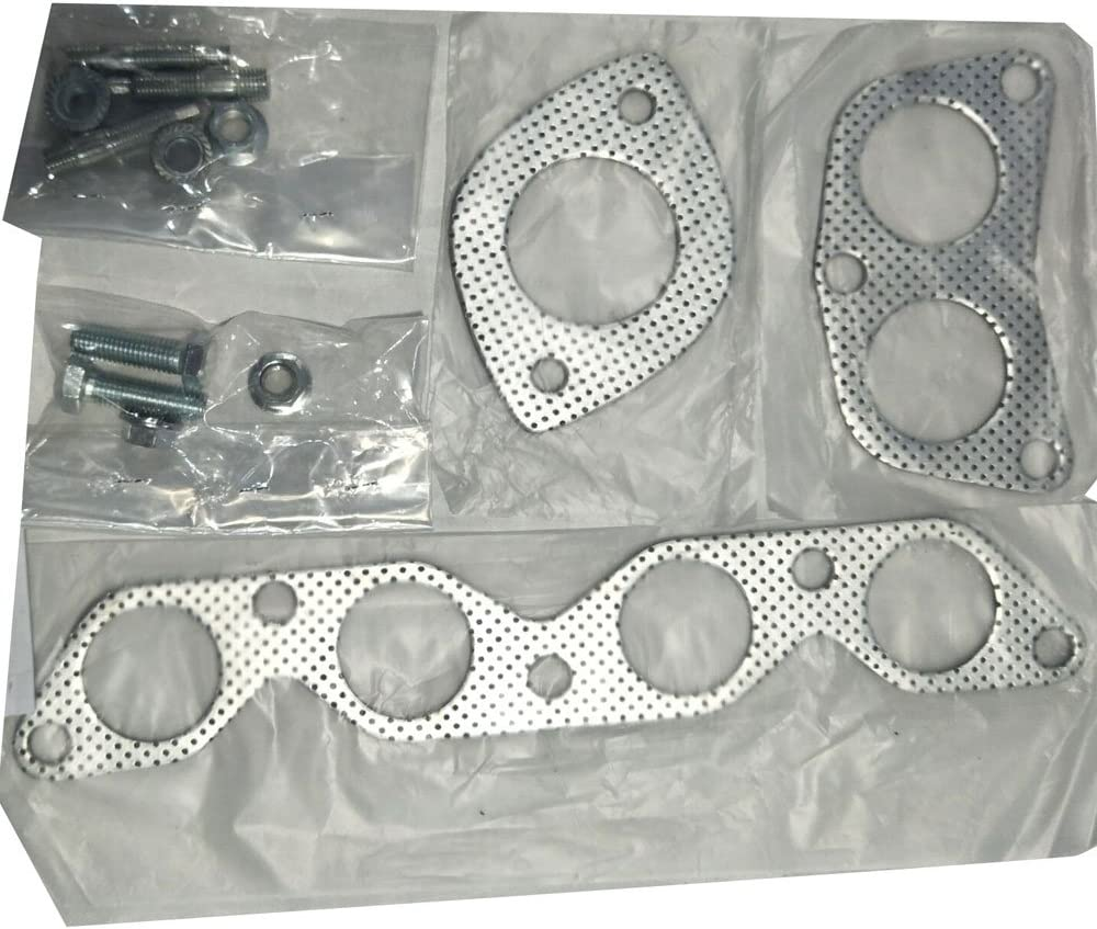 MILLION PARTS Stainless Steel Header Exhaust System Kit fit for 1993-1997 Toyota Croolla Base Sedan 4-Door