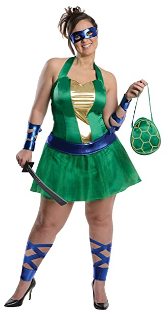 Disfraz de Leonardo de las Tortugas Ninja para mujer talla grande ...