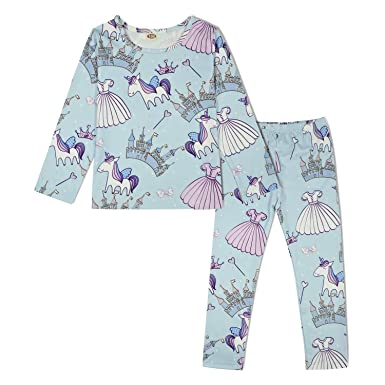 799b49a88a99 Amazon.com  ModaIOO Girls Unicorn Dinosaur Mermaid Pajamas Kids ...