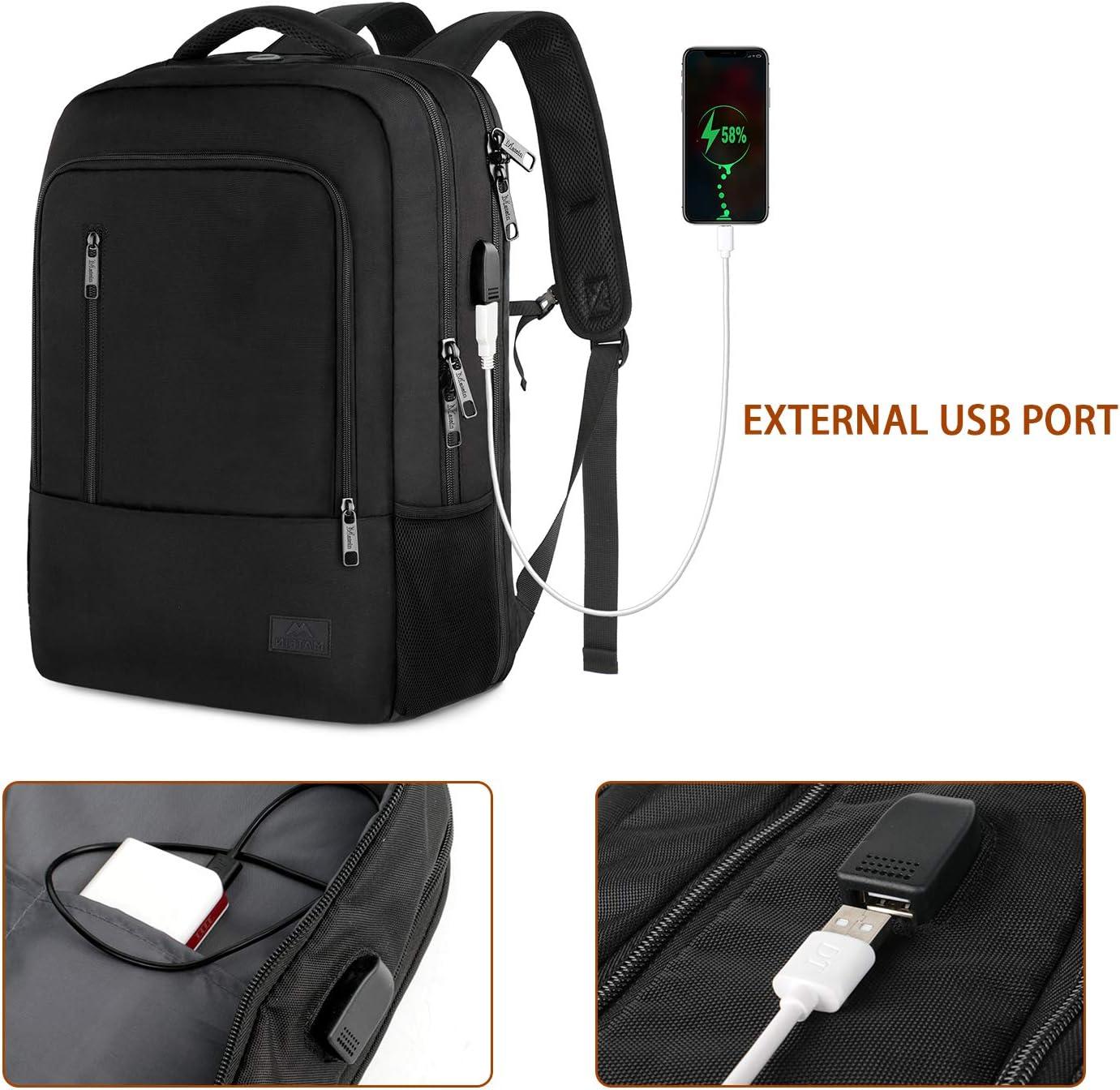 compatible avec TSA avec port de charge USB pour l/école Matein pour ordinateur portable 17 grand sac /à dos de voyage 40 L pour homme et femme Sac /à dos d/école