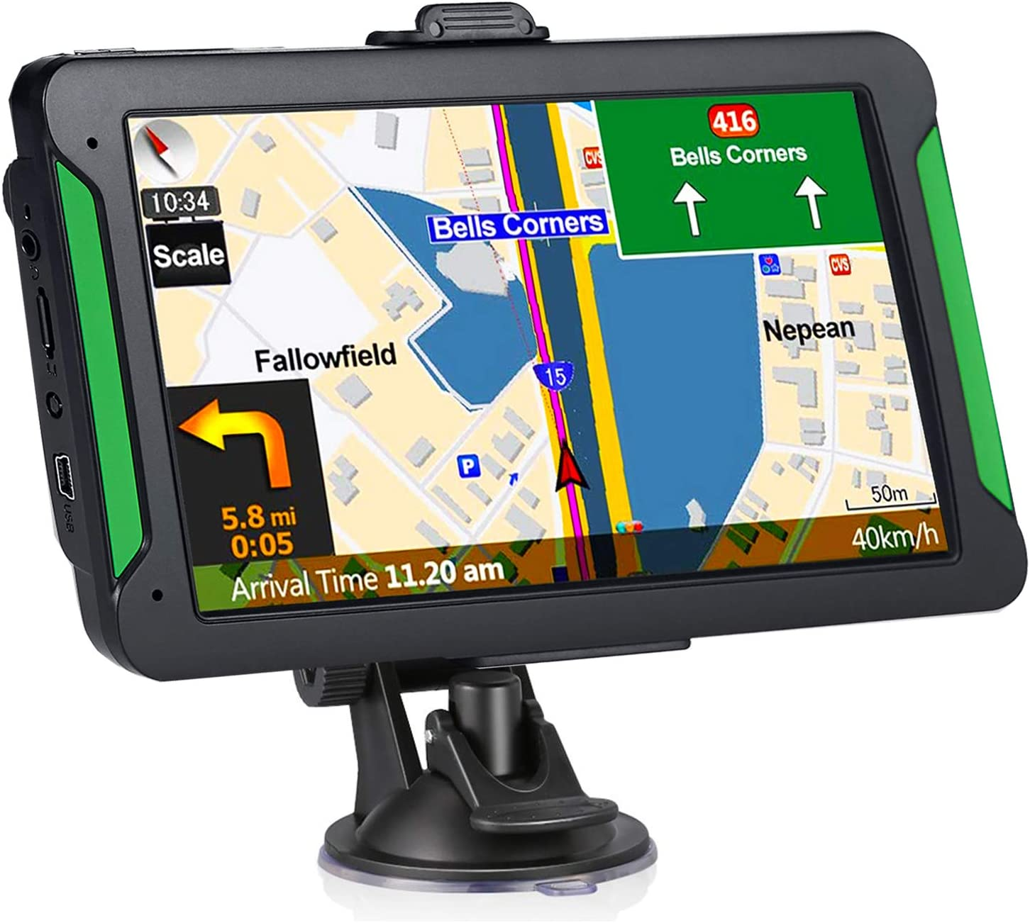Navruf 7-Inch Portable Car GPS Navigation System