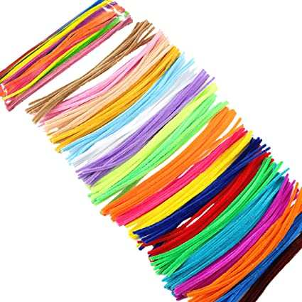 100  Craft Stem Chenille Pipe Cleaners Pack of  Multi Coloured 300mm x 6mm