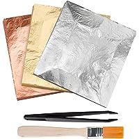 KINNO Gold Leaf Gilding Foil 300 PC 14cm x 14cm Imitation Gold Leaf Foil Gilding Crafting, Arts Project, Furniture…