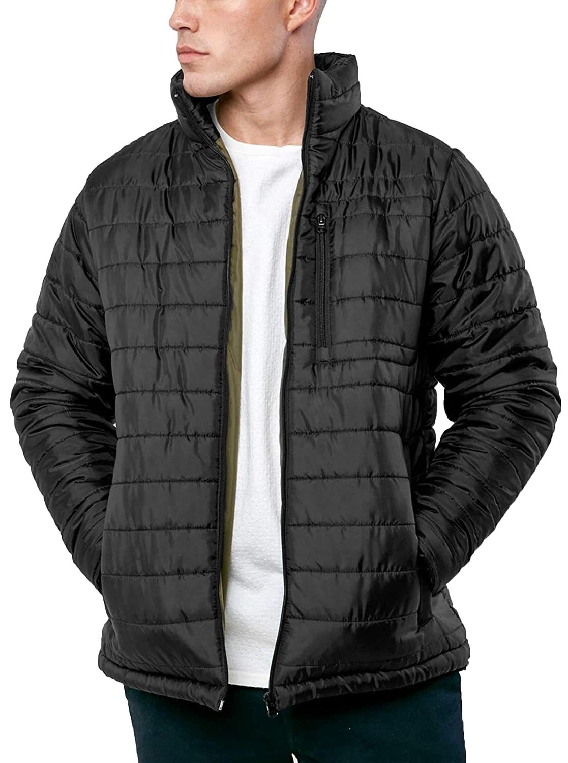 95d31f300 Broken Standard Mens Quilted MA1 Bomber Jacket Padded Coat Winter ...