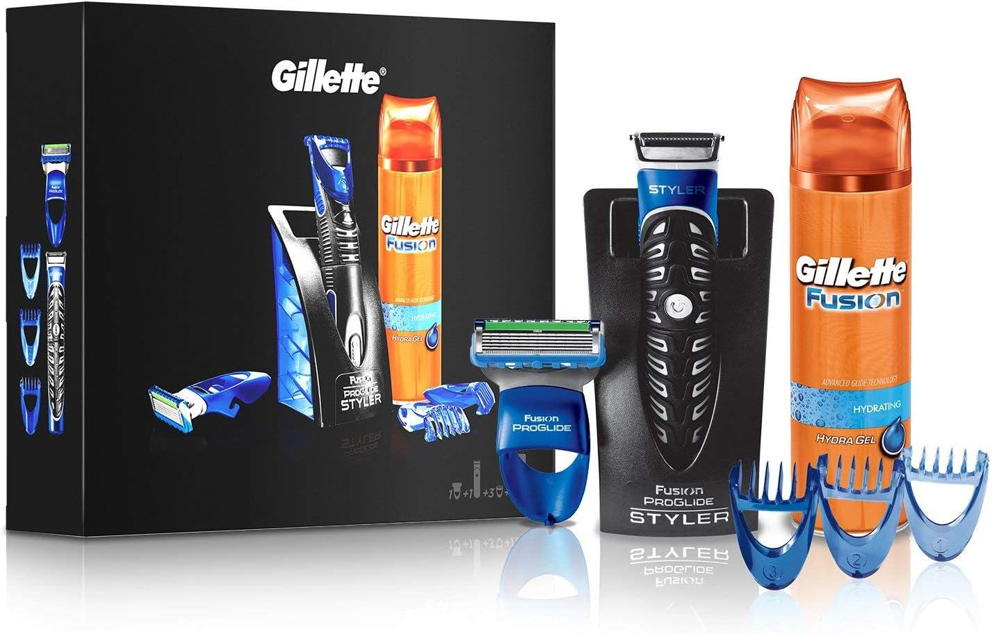 Gilette Fusion Proglide Styler - Maquinilla de afeitar eléctrica 3 en 1 con espuma de barba, 200 ml, cód. 55140: Amazon.es: Belleza