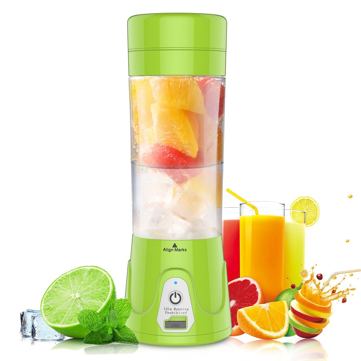 Mini Blender USB Rechargeable Portable Mixer for Smoothie Shakes Baby Food Processor Grinder Personal Size Juicer for Fruits Vegetables 380ML BrookfieldQQCA