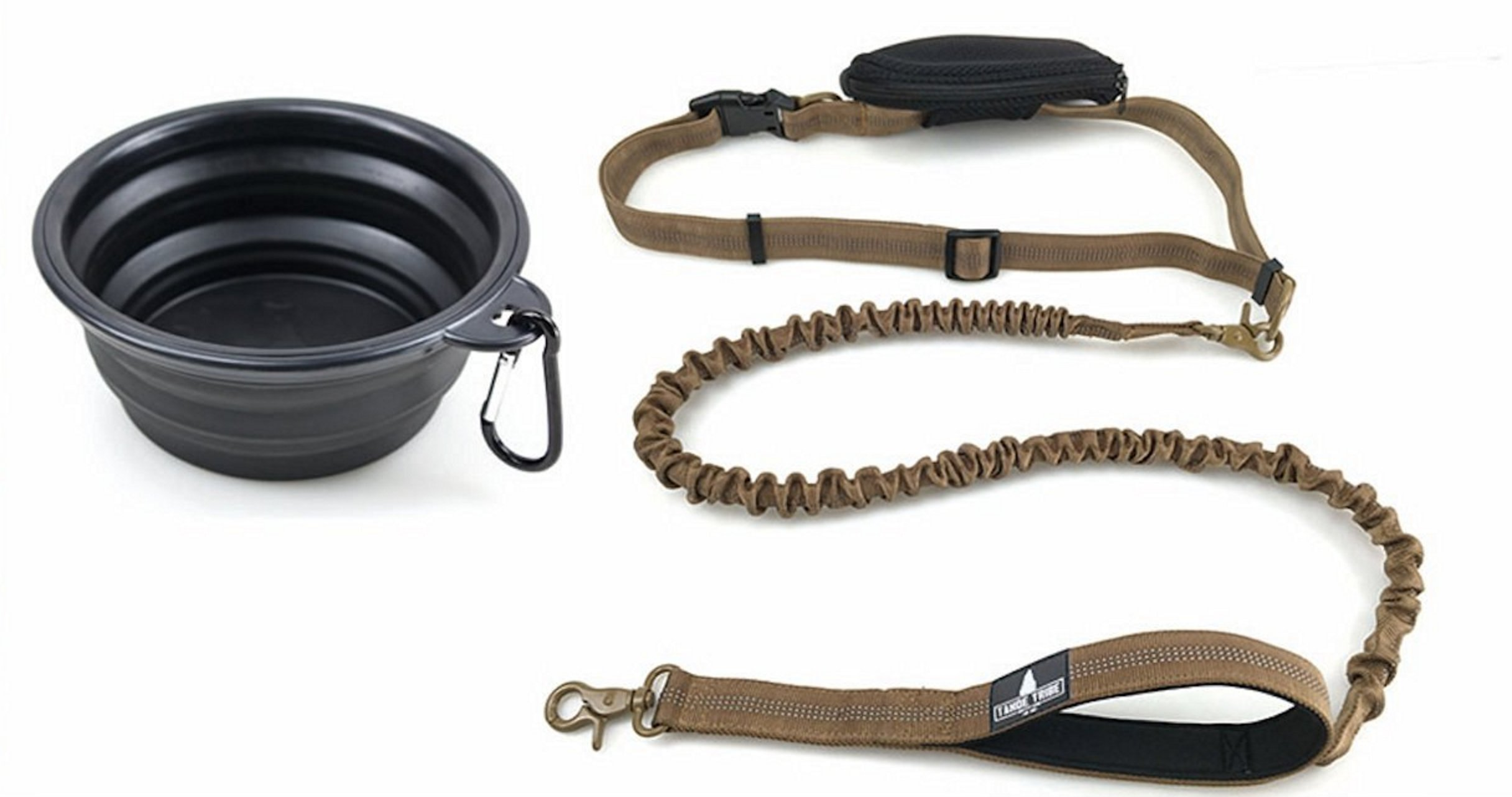 Hands Free Bungee Dog Leash W/ Bonus Collapsible Water Bowl And Storage Pouch.. 8