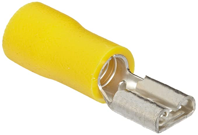 Morris Products 10330 Female Disconnect, Vinyl Insulated, Yellow, 12-10 Wire Size, 0.02