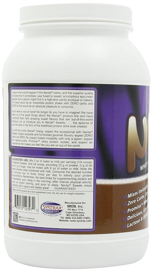 Syntrax néctar caramelos 907 g Chocolate Truffle aislar bebida en polvo de proteína de suero: Amazon.es: Salud y cuidado personal