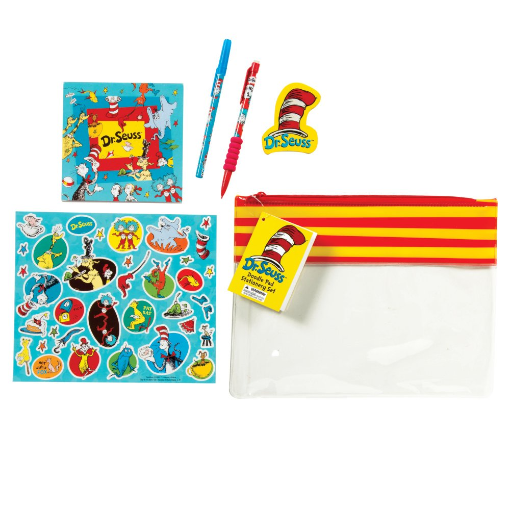 70274 Raymond Geddes Dr Seuss Doodle Pad Stationery Set 12//Bag Writing Pen and Pencil Kit