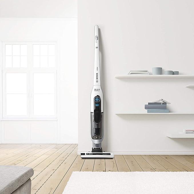Bosch BCH6L2560 0.9L, Color pie eléctrica-Aspiradora Escoba (Sin Bolsa, Negro, Blanco, 0,9 L, Secar, Filtrado, Alfombra, Suelo Duro), 0.9 litros, 79 Decibelios: 206.91: Amazon.es: Hogar