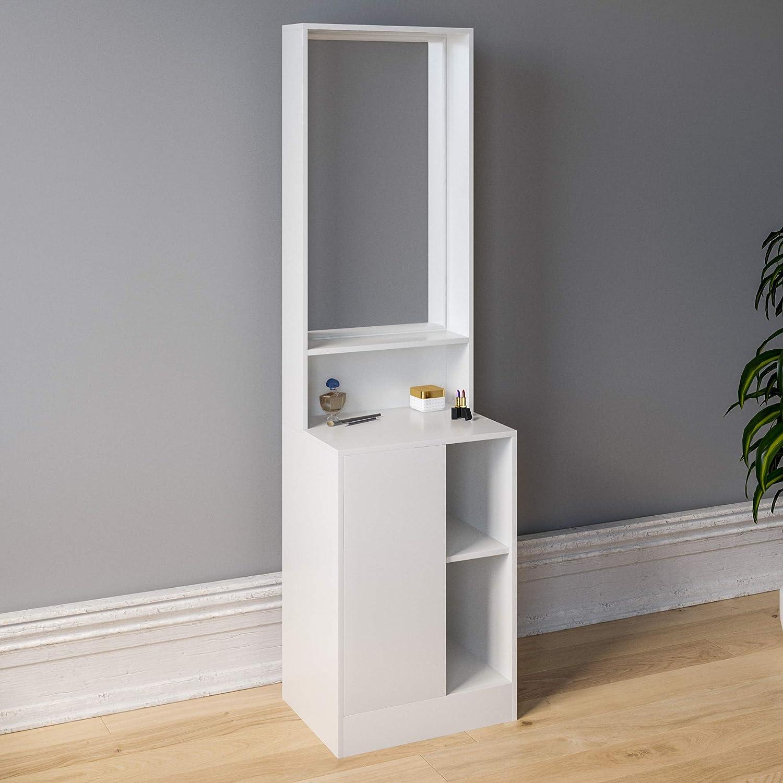 Sophia Dressing Table Mirror Bedroom Makeup Vanity Standing Storage Desk White