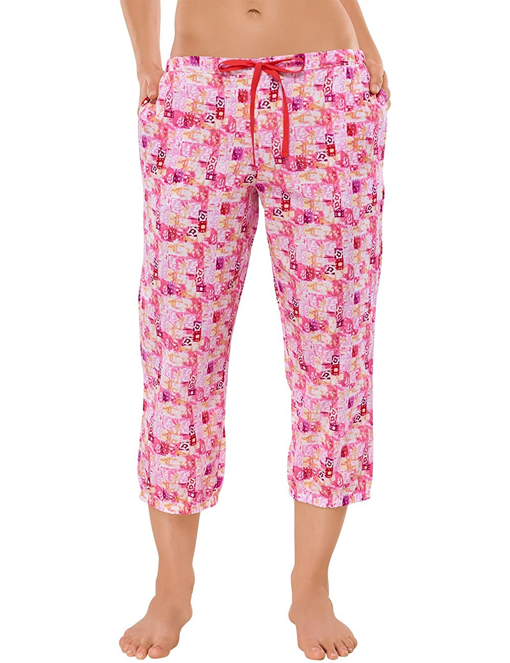 Schiesser Womens Mix /& Relax Hose 3//4 Pyjama Bottoms