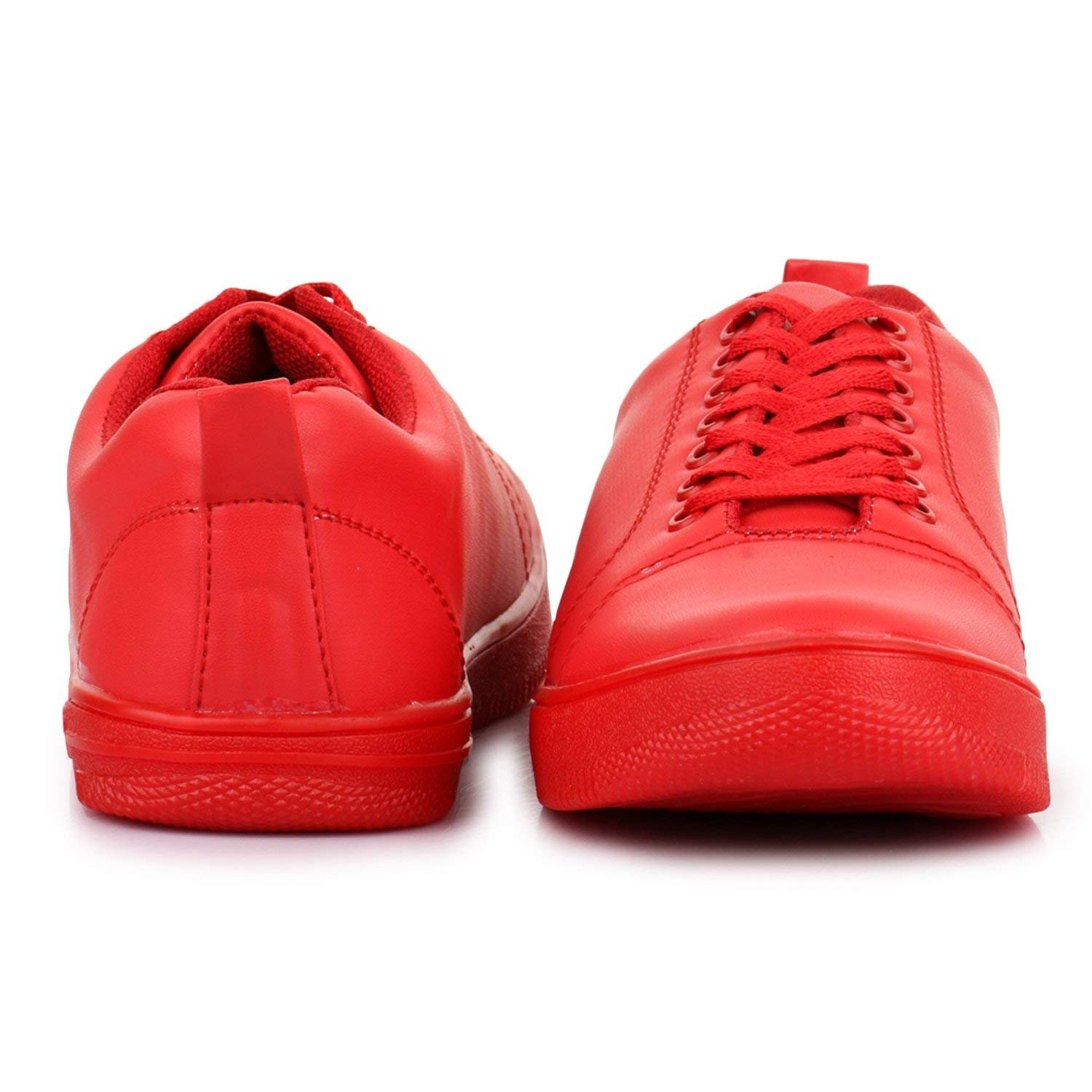 Shoeniverse Red Sneakers For Men Buy Online At Low Prices In India