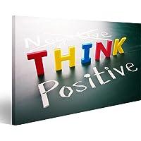 Quadro moderno Pensare positivo pensare, parole colorate, non negative positive sulla lavagna Stampa su tela - Quadro x poltrone salotto cucina mobili ufficio casa - fotografica formato XXL
