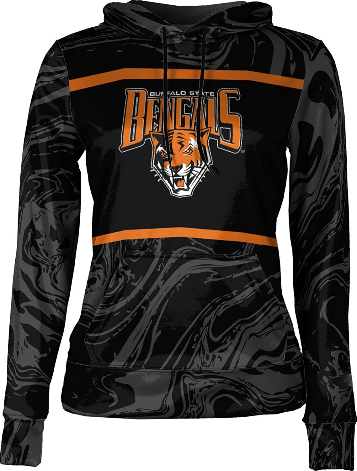 Buffalo State College Girls Pullover Hoodie Ripple School Spirit Sweatshirt