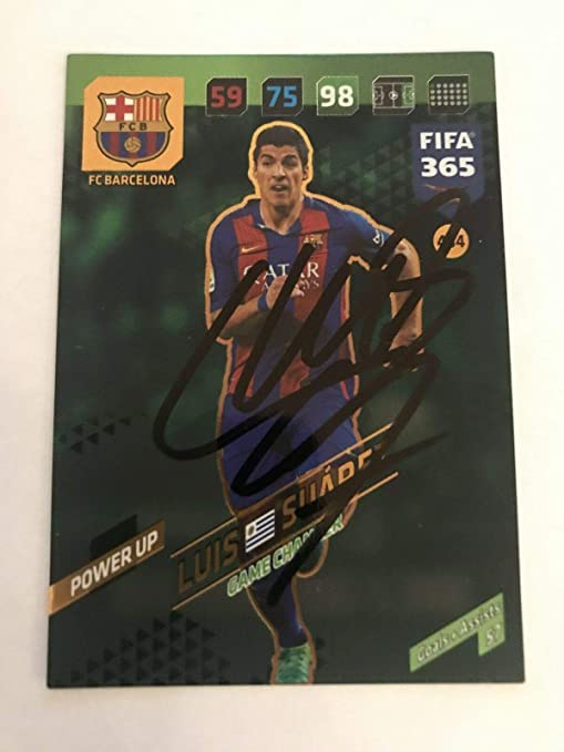 LUIS SUAREZ SIGNED Panini Soccer Trading Card Auto. Genuine Autograph! COA 6e995720e