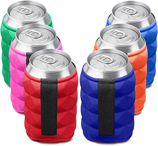 Lot 2 Neoprene Insulation Beer Bottle Cooler Soda Drink Can Cooling Sleeve Cover