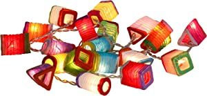 CHAINUPON Chinese Paper Mini Lantern String Party,Patio,Fairy,Decor,Living Room,Bedroom,Christmas,Wedding,Oriental,Asian Lights (Multi-Colored)